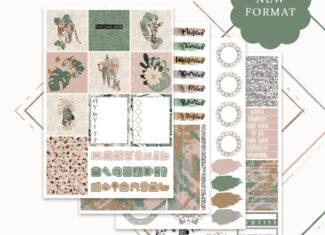 PLANALONG VOL.2 –  MINI WEEKS KIT – Printable Sticker Kit