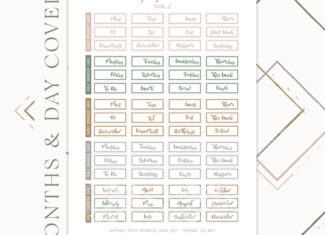 PLANALONG VOL.2 – Months & Days – Printable Stickers