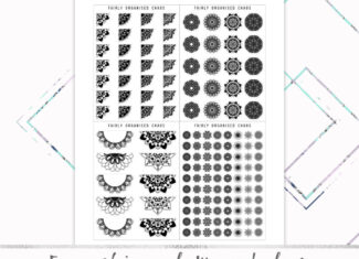 Functional Mandalas – Foil Ready Printable Planner Stickers