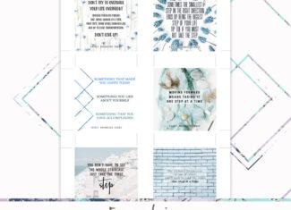 3×3 One Step Cards – Freebie