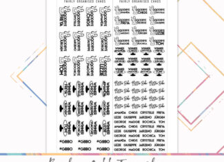 Bake Off 2021 Tracker – Foil Ready Printable Stickers