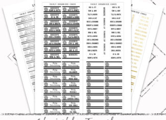 Strictly 2021 Tracker – Printable Planner Stickers